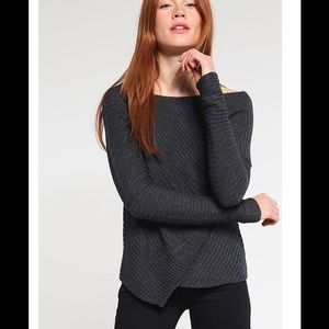 NWT Free People Love And Harmony Dark Grey Sweater