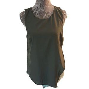 BORDEAUX sleeveless asymetrical color block top