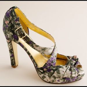 J. Crew Love-me-knot Printed Platforms SIZE 8