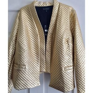 Quilted Metallic Blazer
