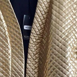 Eloquii Jackets & Coats - Quilted Metallic Blazer