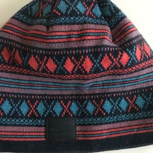 Blue and Pink Winter Cap