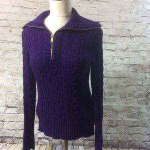Ralph Lauren Canle Knit 1/4 Zip Sweater