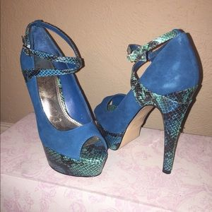 Bakers Blue suede stilettos