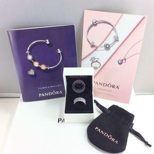 New Authentic Pandora Lavish Sparkle Ring Bundle