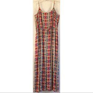 Gap Geometric Floral Maxi Dress