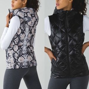 Lululemon 'The Fluffiest' Vest Black & Ziggy Snake