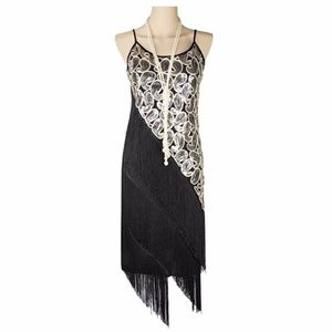 NWT 1920s Sequined Flapper Dress Halloween Costume