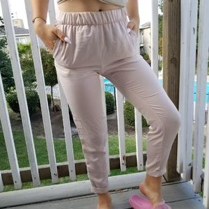 Light pink H&M elastic lounge pants