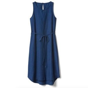 Denim dobby sleeveless dress