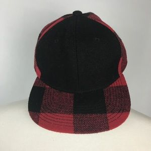 OTTO buffalo red plaid SnapBack wool cap hat!