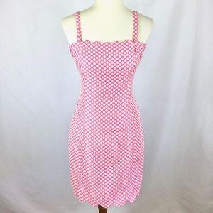 I Love Ronson Cute Pink White Polka Dot Dress 10