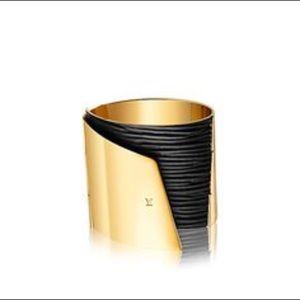 Louis Vuitton Two-Tone 'My Epi' Cuff Bracelet