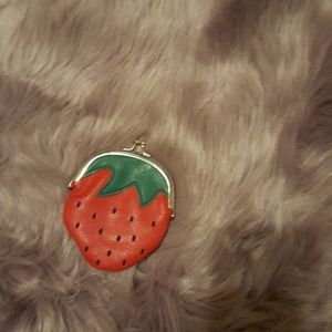 Handbags - Strawberry coin purse wallet