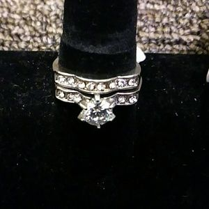 Silver Plated CZ Fashion Ring