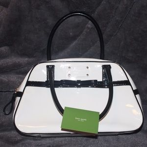 Kate Spate Patent Leather B&W Bag