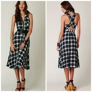 Free People Plaid House Dress, Size 0, VGUC