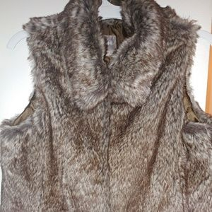 J. Jill Brown Faux Vest with pockets Sz Small