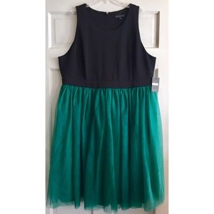 Eloquii Dresses - Emerald Tulle Cocktail Dress