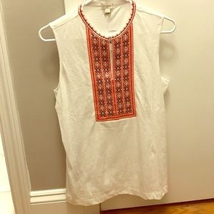 J. Crew NWT embroidered tank!