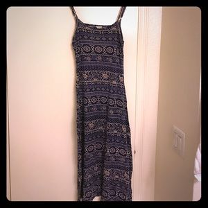 Forever 21 Blue Patterned Maxi Dress