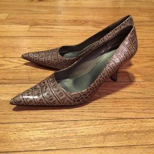 Nine West snakeskin heels - sz 7M