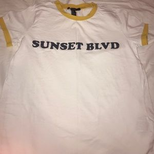 white t shirt sunset blvd
