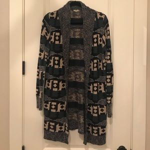 Urban Outfitters long tribal print sweater