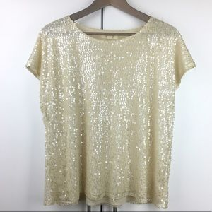Sparkly Off White Top