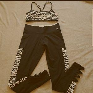 SET! PINK Victoria's Secret leggings and bralette