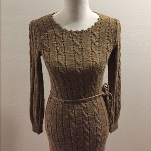 Dresses & Skirts - Vintage Tan Sweater Dress
