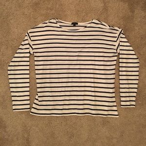 New boatneck cotton striped J.Crew shirt. Large.