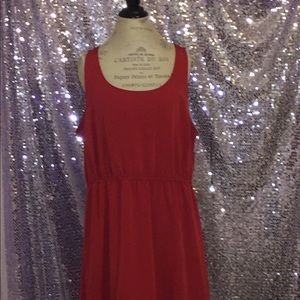 Red Backless High-Lo Dress
