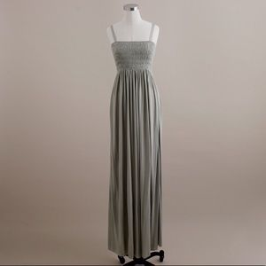 J. CREW Shirred Pale Green Maxi Dress - Size 6