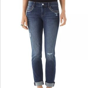 White House Black Market Distressed  Ankle Jeans