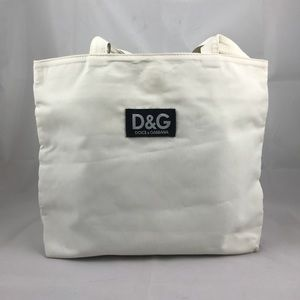 Authentic Vintage D&G fabric tote in White