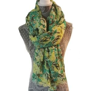 J. CREW watercolors floral oversized scarf wrap