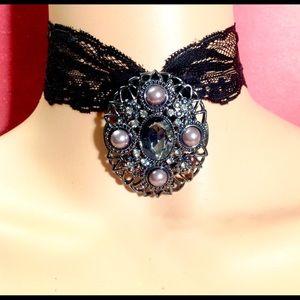 Pendant Necklace & Pin Brooch COMBO❗️Smokey Quartz