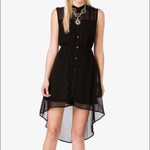 Forever 21 High Low Black Dress