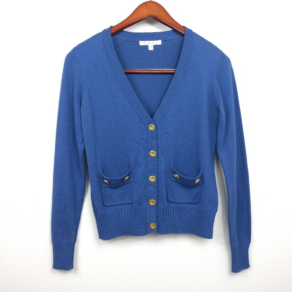 CAbi - CAbi Navy Cardigan Gold Buttons from ! c's closet on Poshmark