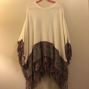 NWT Knitted Poncho