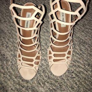 Blush strappy heel. Steve Madden slither