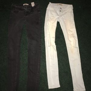 TWO PAIRS of hollister skinny jeans