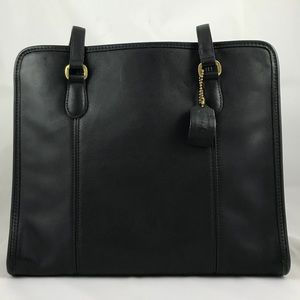 Vintage Coach Tote in black leather