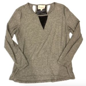 Two by Vince Camuto Long Sleeve Soft Tee Top Shirt