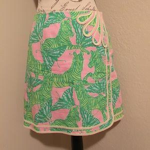 Lilly Pulitzer Zebra & Butterfly Skirt