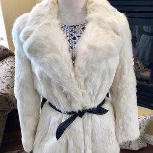 White Rabbit fur with satin lining