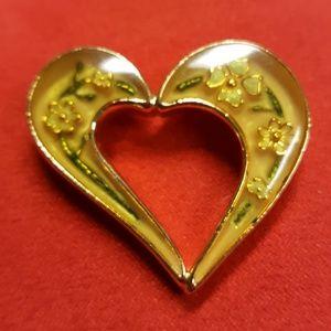 Vintage Kerissa Lucite Heart Brooch