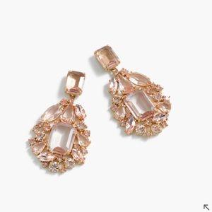 J.crew cluster drop stone earring