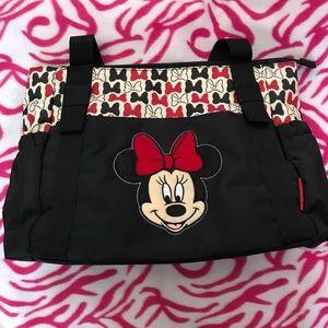 NWT Disney Minnie Mouse diaper bag set